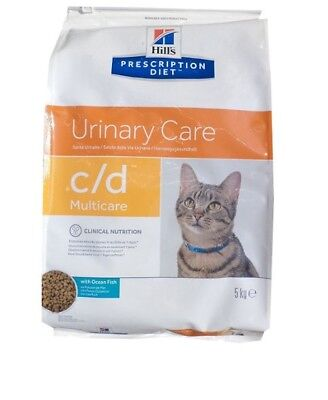 5kg Hills Prescription c/d mit Seefisch Feline Urinary Care, Diet, Katzenfutter