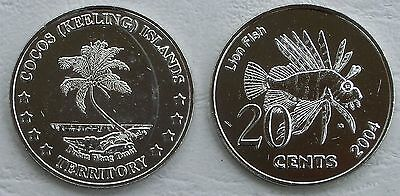 Kokosinseln / Cocos (Keeling) Islands 20 Cents 2004 unz.