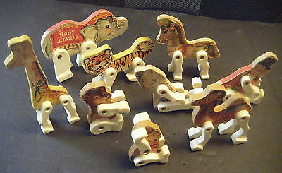 9 Fisher Price Vintage Animals Set 900/902/904