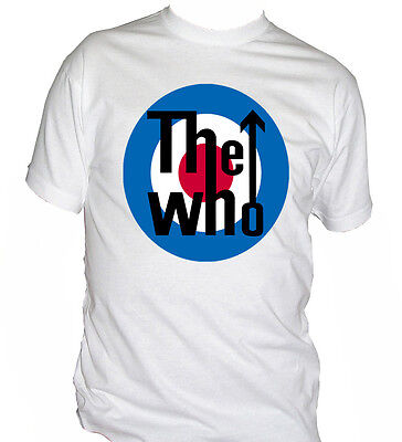 fm10 t-shirt uomo THE WHO rock band logo MUSICA