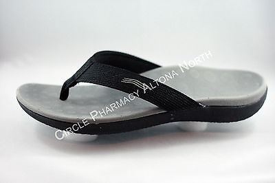Original Scholl Orthaheel Wave Black Thongs Flip Flops Orthotic *Different Sizes