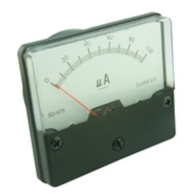 Panel Meter 60x70mm Plastic Body White Face Various Styles available Moving Coil