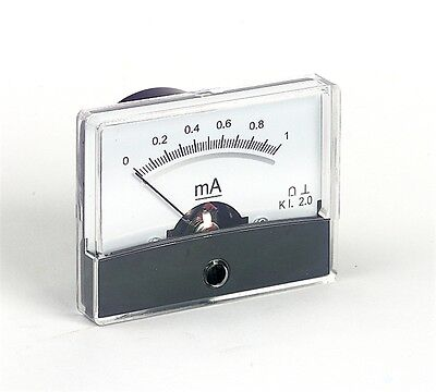 Panel Meter 47x60mm Various Ranges Analogue Moving Coil Meter