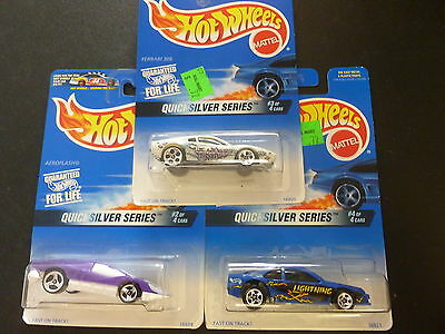 """Lot of 3 1:64 Scale Hot Wheels """"Quicksilver Series"""" Excellent Condition New"""