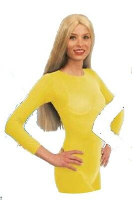 Body justaucorps jaune taille S/M 36/40 lingerie 70 deniers 7898 spectacle show