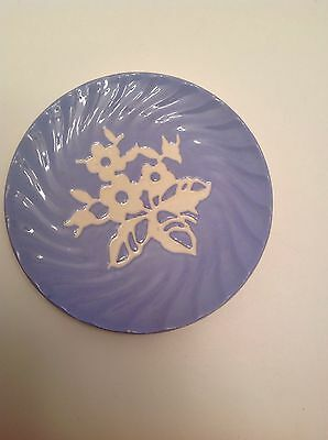 """Harker Pottery Cameo Ware 6"""" Flower w/Ridges Bread and Butter Plate"""