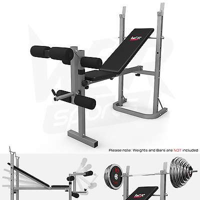 Folding Weight Bench & Weight Rack Incline Decline Home Gym Adjustable Bench