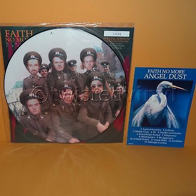 "1992 Slash Records Faith No More - Midlife Crisis 12"" Picture Disc Single Vinyl"