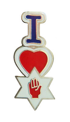 I Love Northern Ireland Ulster Vertical Pin Badge - K081