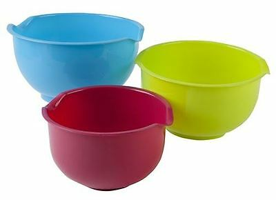 PIP 3 Nesting Mixing Bowls With Pouring Lip Bright Colours Tableware Cookware