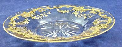 St Louis MASSENET CLEAR Gold Encrusted Vintage Ice Plate AS IS