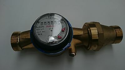 "30mm 1.25"" BSP Commercial Cold Water Flow Meter: New with Free Fittings"