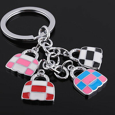FD1180 Colorful Fashion Bag Chain Metal Keychain Keyring Keyfob Key Ring ~1pc~