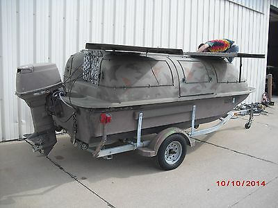 OUTLAW BLIND DUCK BOAT 50HP NISSAN TRAILER
