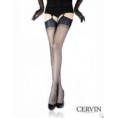 Strümpfe CERVIN CAPRI 15den Nylon Stokings Pin-up Burlesque Gr.S-XXL
