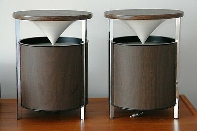 Pair of Working Mid-Century Modern ZENITH CIRCLE OF SOUND Speakers