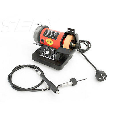 NEW Mini Twin Buffing Machine Suit All Hobbies Jewllery Polishing Crafts Gem