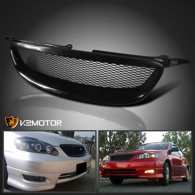 2003-2008 Toyota Corolla Front Mesh Grill Grille Black