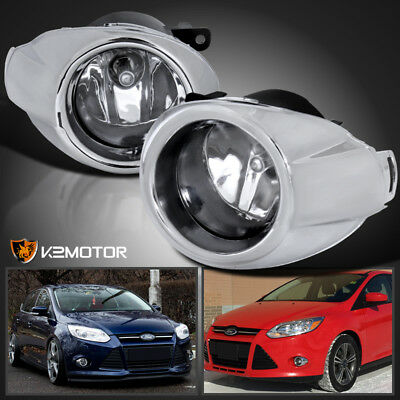 12 14 Ford Focus Crystal Clear Driving Fog Lights Per Lamps Switch H11