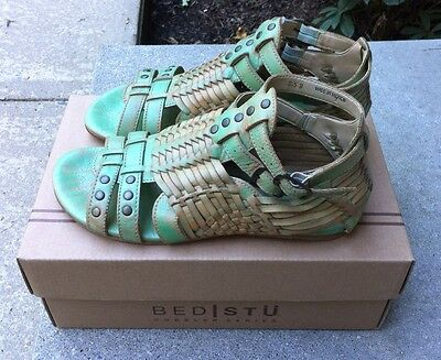 Bed Stu Claire Sandals, 8.5, Green