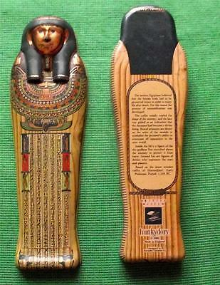 Vintage Egyptian Sarcophagus Tin Box British Museum Souvenir for Archaeologist K