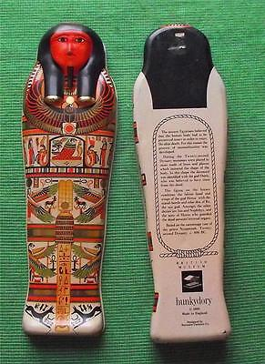 Vintage Egyptian Sarcophagus Tin Box British Museum Souvenir for Archaeologist D