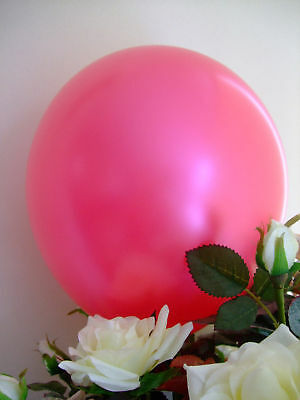 "50 HOT PINK FUCHSIA BALLOONS 12""HIGH QUALITY Pearlised Helium Air Biodegradable"