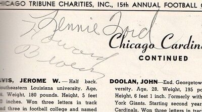 1948 College All Star Program Signed By Len Ford Bobby Layne plus over 20 More