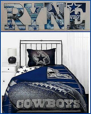 """Dallas Cowboys  9"""" Childrens Wooden Letters Decor Can do any Theme"""