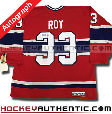 Patrick Roy Signed Montreal Canadiens 1993 Ccm Vintage Jersey