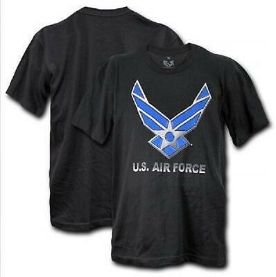 US AIRFORCE Single NEW USAF LOGO Army Military Graphic Tee TShirt XXL
