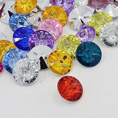25 to 200 Round Acrylic 15mm Diamond Rhinestone Sewing Buttons -Buy 3 Get 1 FREE