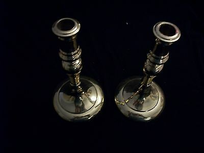 Pair of Vintage polished Brass Candle Sticks, Holders, PENNSYLVANIA HOUSE