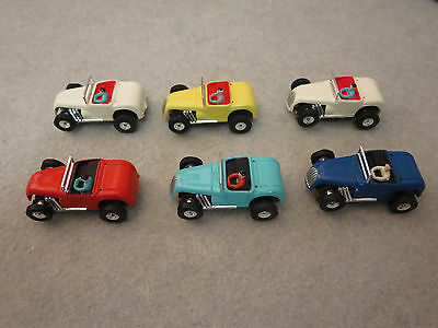 SIX Aurora NOS Mint Hot Rod Roadsters W/ Mint Cases and Original Master Box