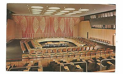 United Nations Economic & Social Chamber New York Vintage Postcard