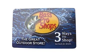 $Bass Pro Shops Gift Card $125 TOTAL VALUE