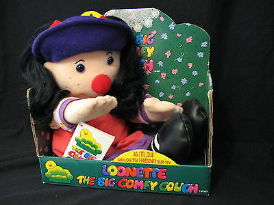Big Comfy Couch LOONETTE THE CLOWN large Doll Plush 1997 in Box Commonwealth