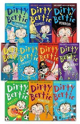 Dirty Bertie Series 3 Collection David Roberts 7 Books Set NEW Smash Horror Jack