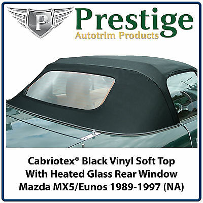 Mazda MX5 MX-5 Eunos Mk1 (NA) Glass Window Vinyl Soft Top 1989-1997