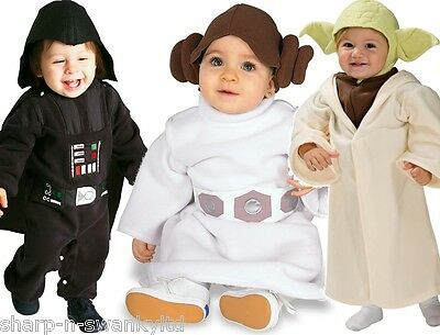 Cute Baby Girls Boys Star Wars Yoda Darth Vader Leia Fancy Dress Costume Outfit