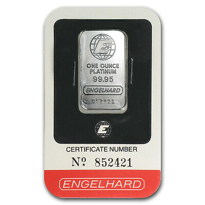 1 oz Engelhard Platinum Bar - Random Design - SKU #64918
