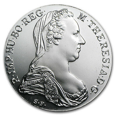 1780 Austria Maria Theresa Silver Thaler Coin - AU or Better - SKU #9572