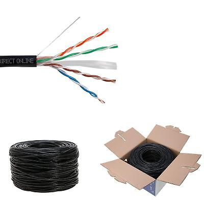 Cat6 1000Ft Outdoor 23 Awg 550 Mhz Cable Utp Wire Solid Direct Burial Uv Lan