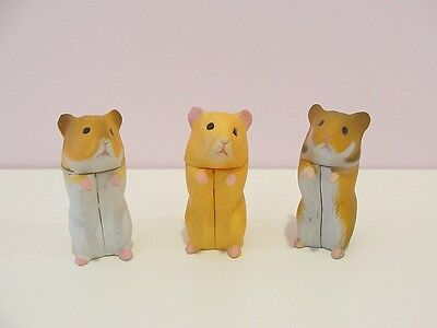 Cute Hamster Mini Figure Set New Rare Import!