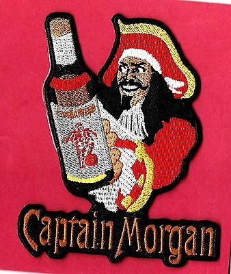 """New Captain Morgan Rum 4 1/2 X 4""""   Inch  Iron on patch Free Shipping"""