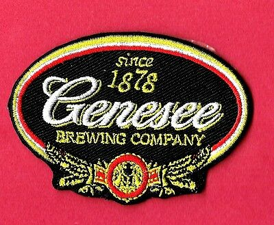"""New Genesee Beer 'Black'  3 X 2""""   Inch  Iron on patch Free Shipping"""
