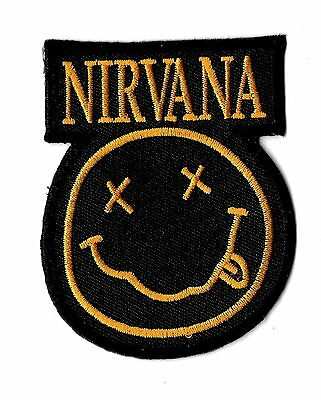 """New Black Nirvana  3 X 2 1/2""""  Inch  Iron on patch Free Shipping"""