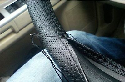 Car Hand Sewing Steering Wheel Cover for Polo Passat Jetta Cruze Black brand new