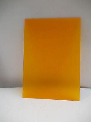 A4 4 mm Frosted Orange Cast Acrylic Perspex Plexiglass Panel 297 mm X 210 mm