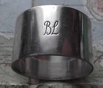 Old Bibby Shipping Line Heavy Silver Plated Napkin Ring No.163